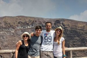 Crater of Vesuvius with Gian and company (August 2013)