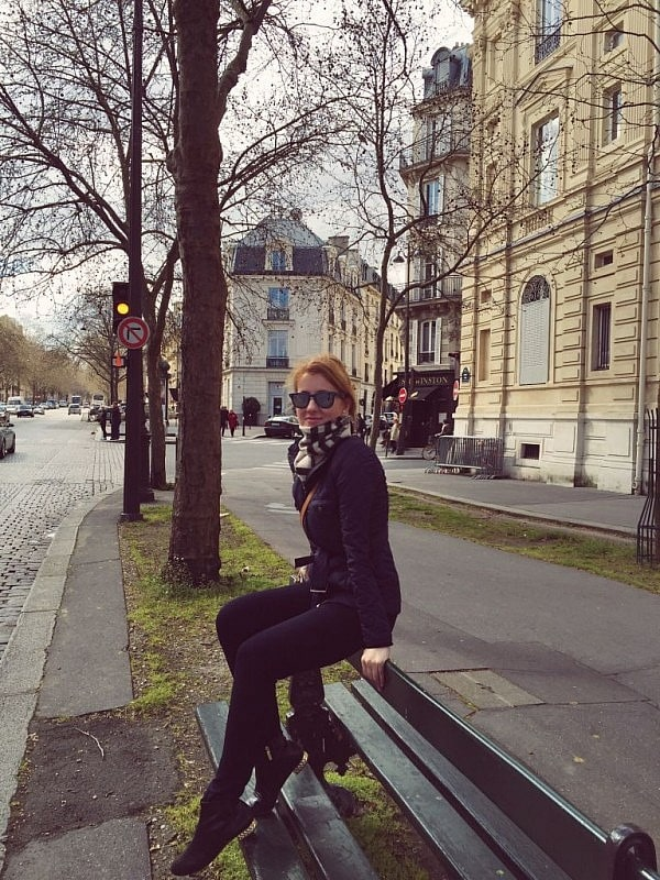 On a bench in Paris