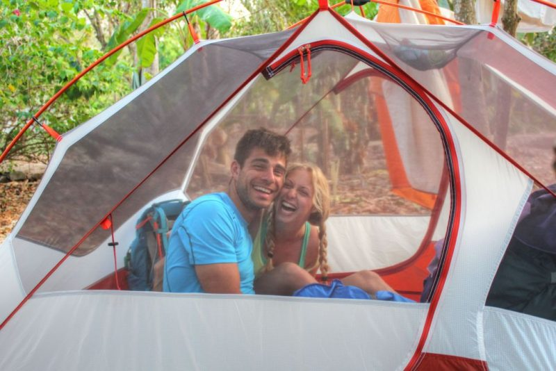 Sarah and I camping in La Brisa (March 2015)