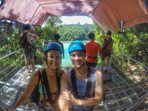 Ziplining at Sapi Island