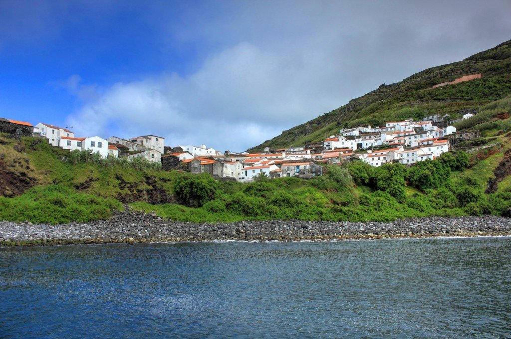 Arriving at Corvo Island, Azores