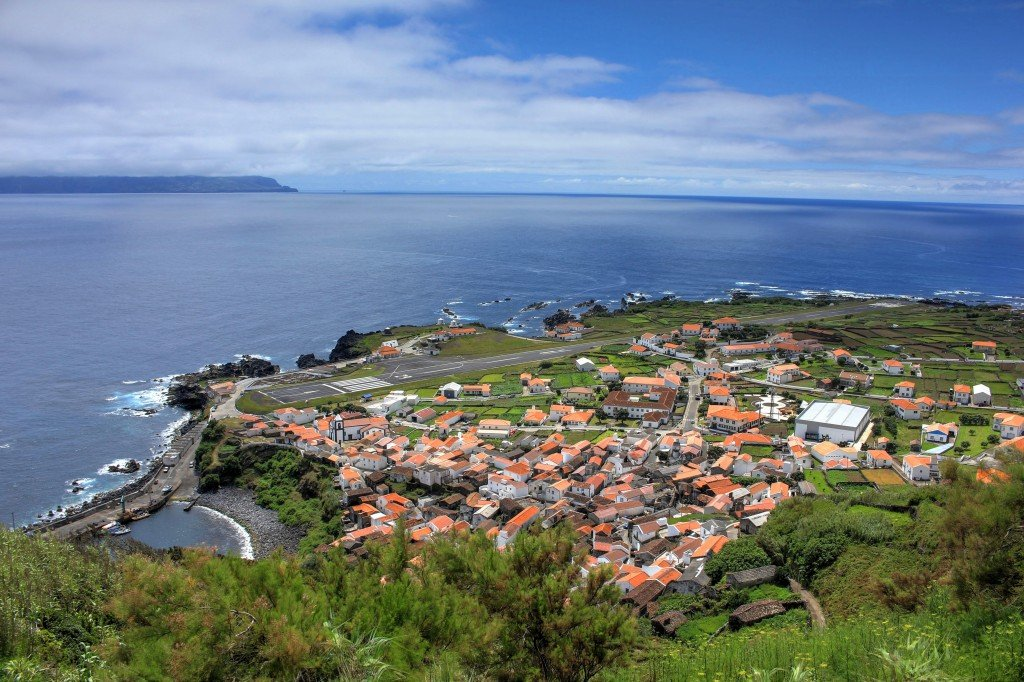 The only city of Corvo Island, Azores