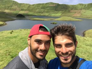 Making it to the last of the Azores Islands (8 of 9) on this trip with meu melhor amigo Jonny