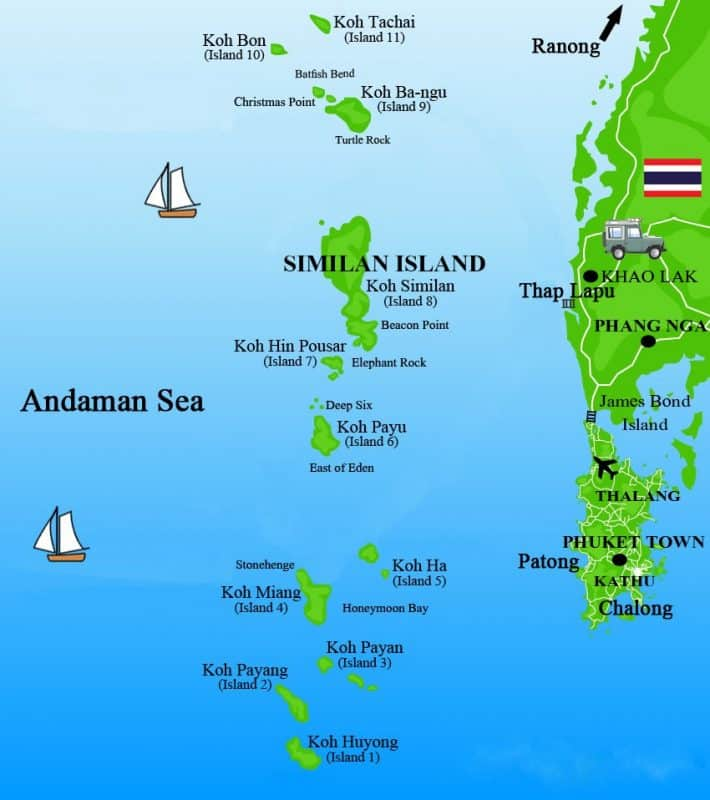 Similan Islands Map