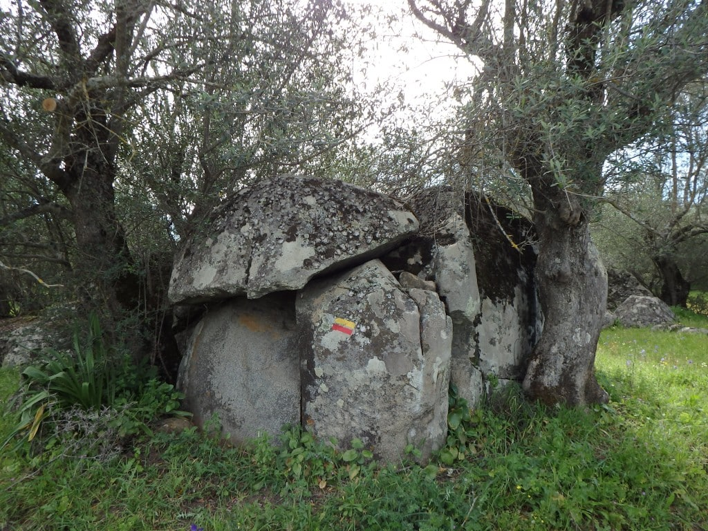 Ruins of the neolithic period in São Lourenço do Barrocal