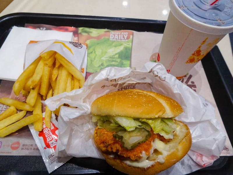 South Korea Fast Food - Burger King: New Orleans Style Chicken Sandwich