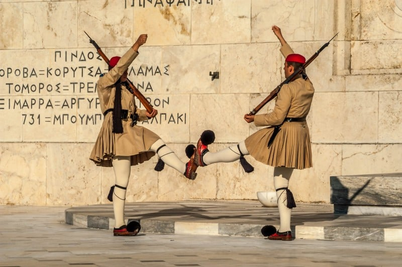 Syntagma square guards change, Athens, Greece - Global Storybook