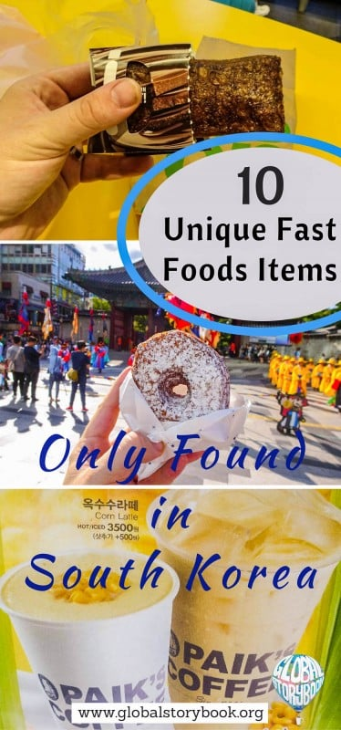 Unique Fast Foods Items Only Found in South Korea - Global Storybook