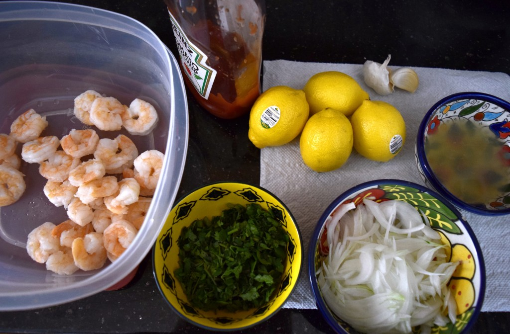 Shrimp Ceviche Ingredients