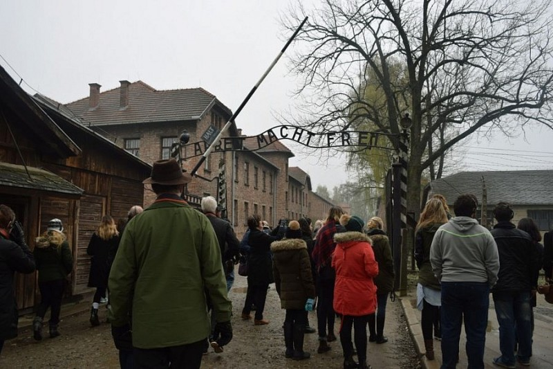 The entrance to Auschwitz 1 camp