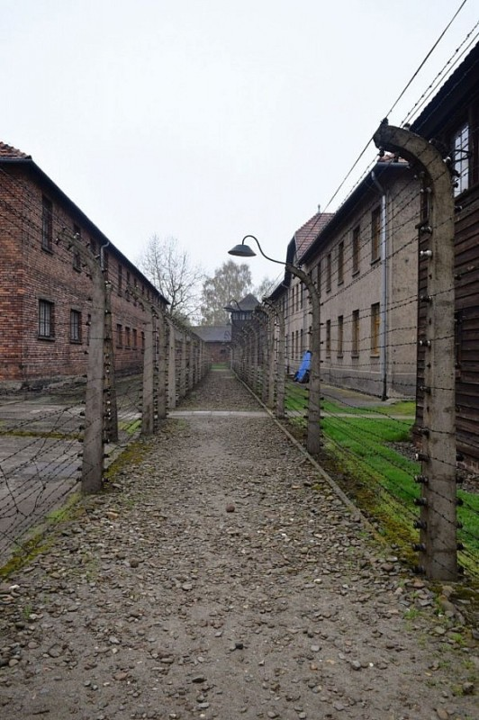 Inside the Barracks in Auschwitz