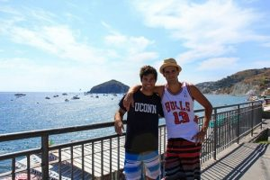 Gian and Me at Maronti Beach, Ischia, Italy