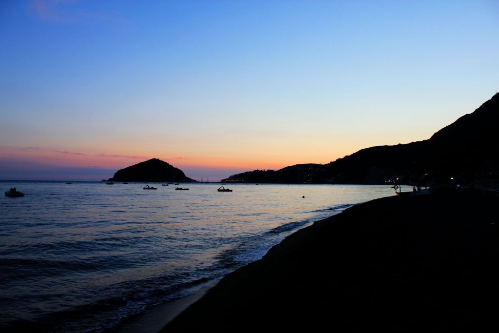 Sunset at Maronti Beach, Ischia, Italy