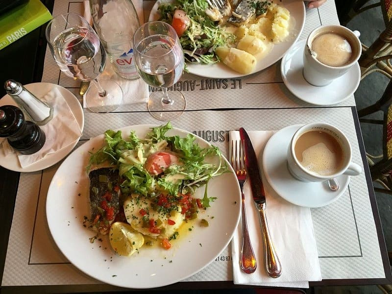 Parisian lunch