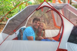 Genuinely happy. Sarah and me camping at La Brisa Finca Natural on Ometepe, Nicaragua (March 2015)