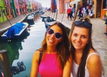 Myself (Left) and Morgan (Right) in Burano
