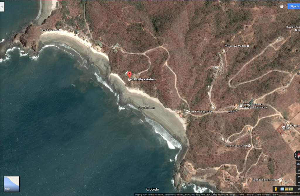 Playa Madera Map from Google Maps