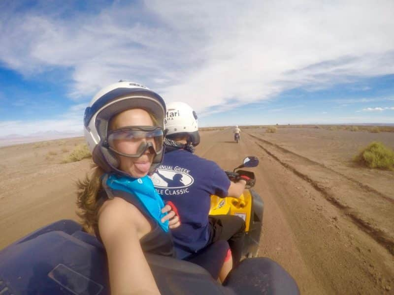 Quading through the desert in San Pedro de Atacama, Chile