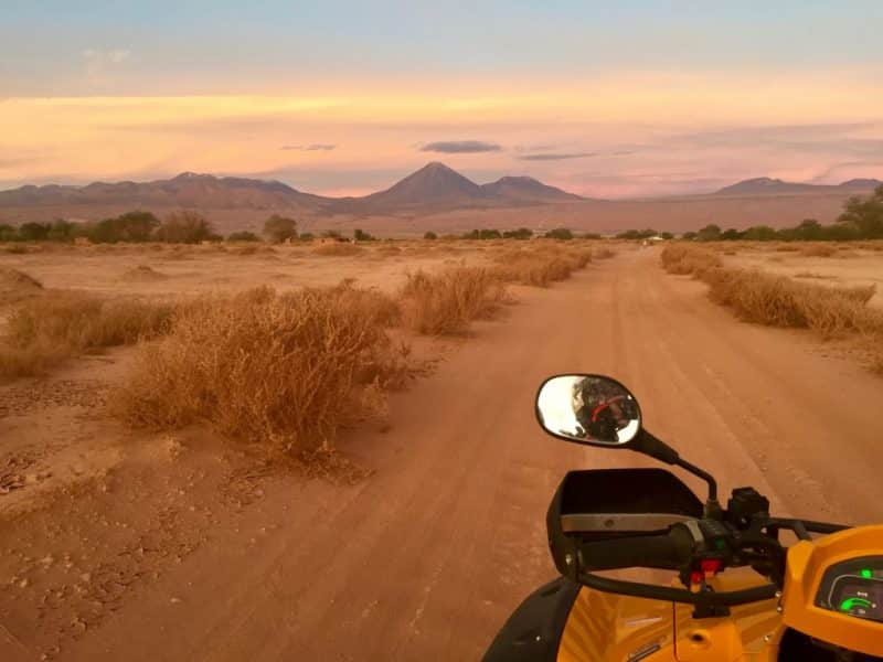 Riding off into the sunset in San Pedro de Atacama, Chile