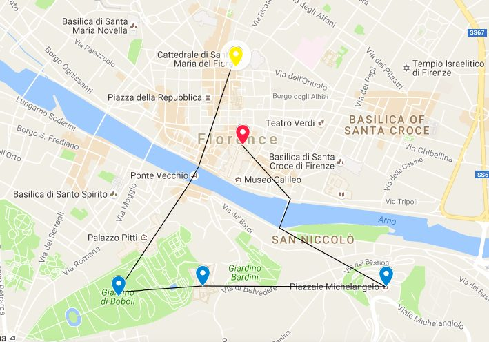 5 Best Views in Florence map