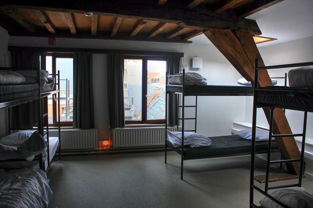 Antwerp City Hostel Dorm Room