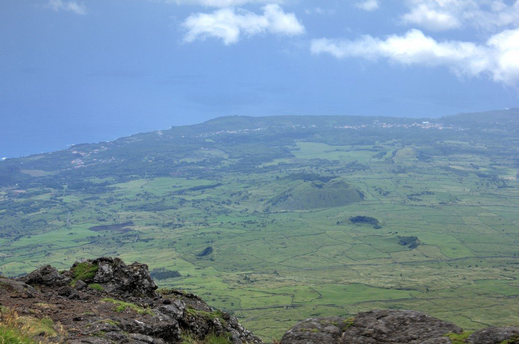 View during the climb of Pico Volcano, Pico Island, Azores