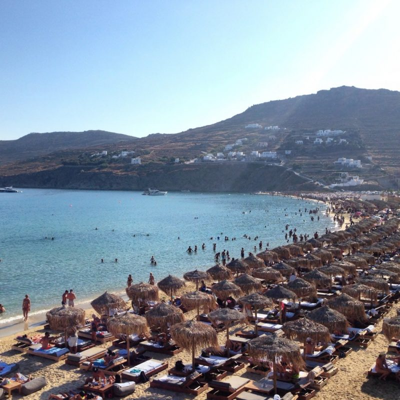 Kalo Livadi Beach, Mykonos, Greece
