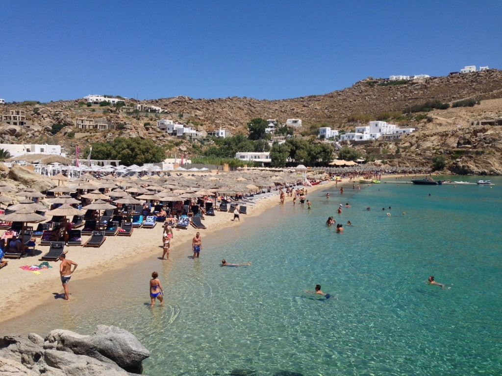 Super Paradise Beach, Mykonos, Greece