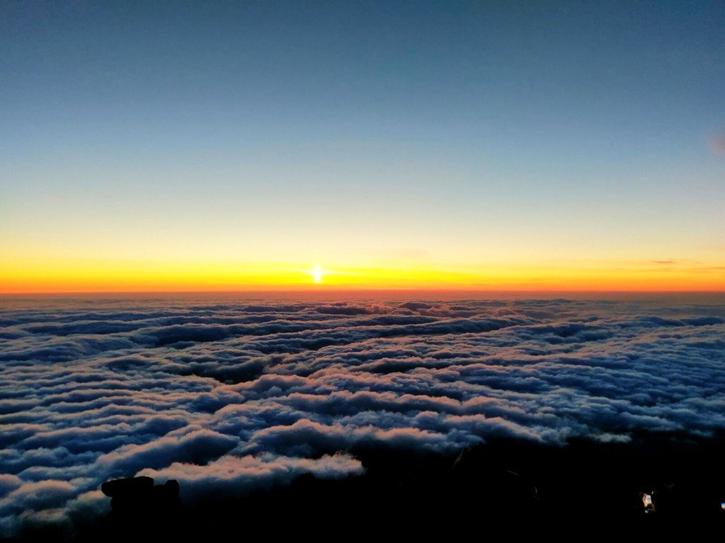 Photograph by John Plum. Pico Volcano Sunset