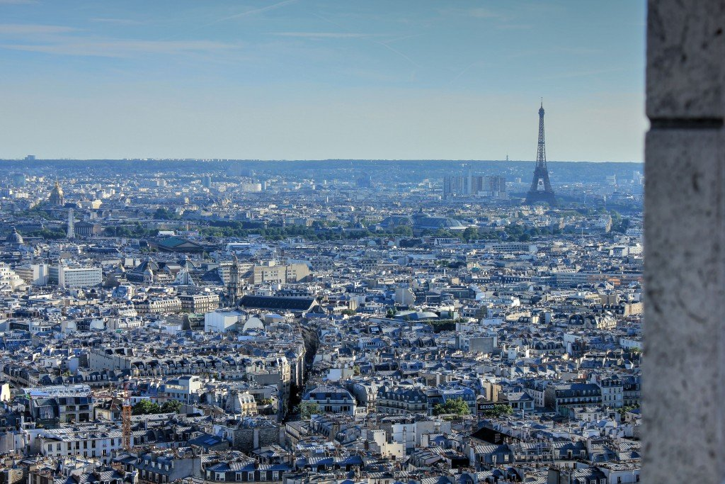 The View from Sacre-Coeur, Paris, France.
