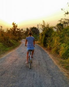 Biking around Inle Lake