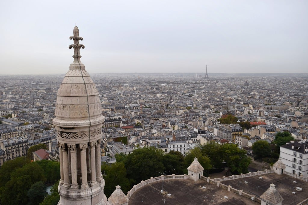 Sacre Couer de Montmartre top views