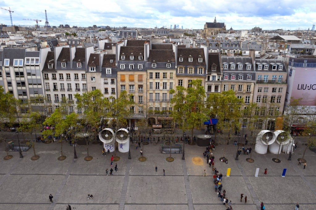 Le Centre Pompidou top views