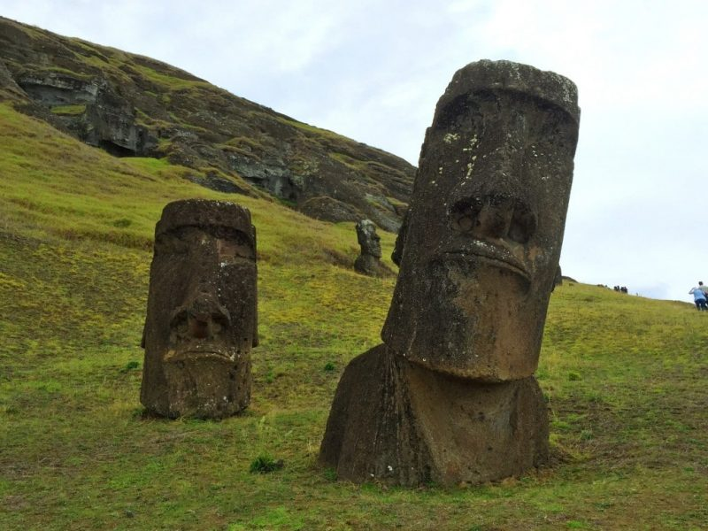 Rano Raraku park, Easter Island, Chile - Global Storybook