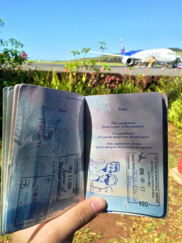 passport stamp, Easter Island