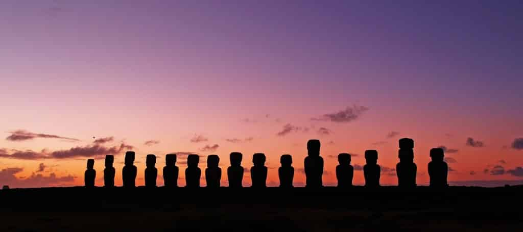 Ahu Tongariki sunrise, Easter Island, Chile