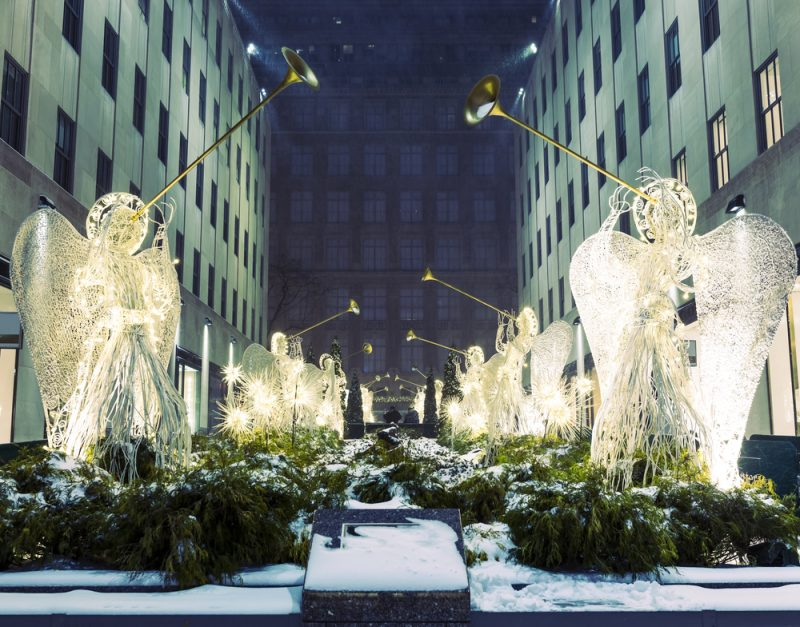 Rockefeller Center NYC snow