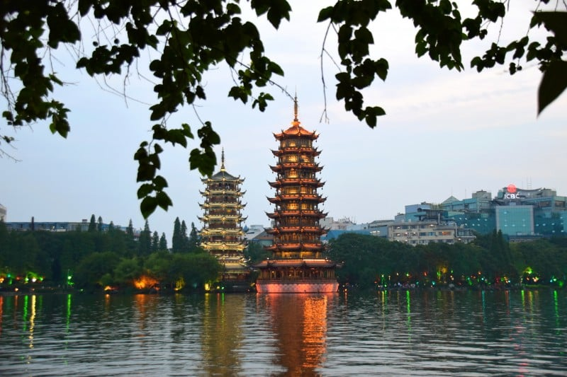 Sun and Moon Pagodas, Guilin, China - Global Storybook