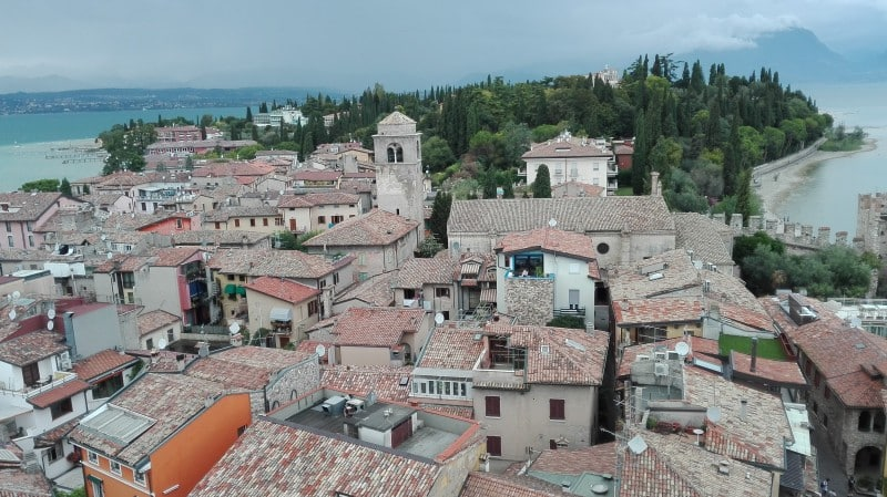 View of Sirmione from Scaligera Tower