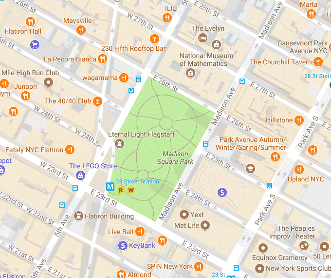 Madison Sq Park map