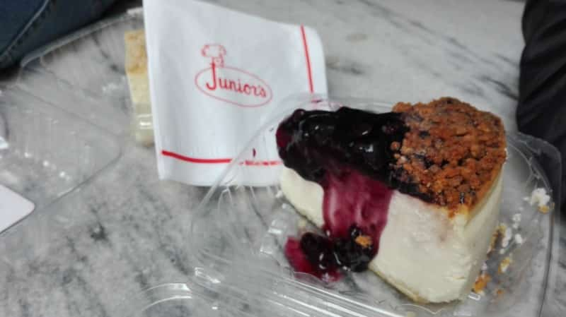 Junior's Blueberry Cheesecake - Midtown Manhattan