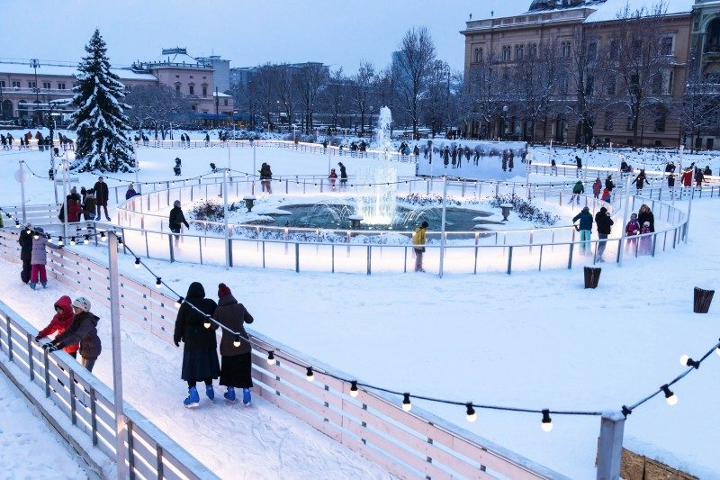 Ledeni Park na Tomislavcu (Ice Park on Tomislav's square) Zagreb, Croatia - Global Storybook