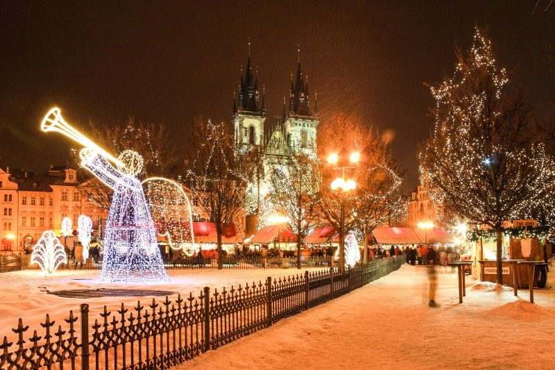 Christmas Mood on snowy Old Town Square, Prague, Czech Republic - Global Storybook