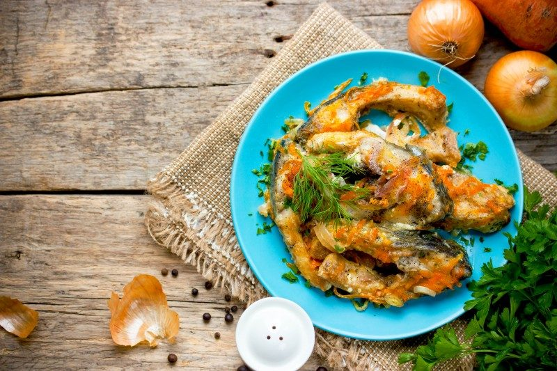 Escabeche of fish with vegetables, marinated fish, Argentina - Global Storybook