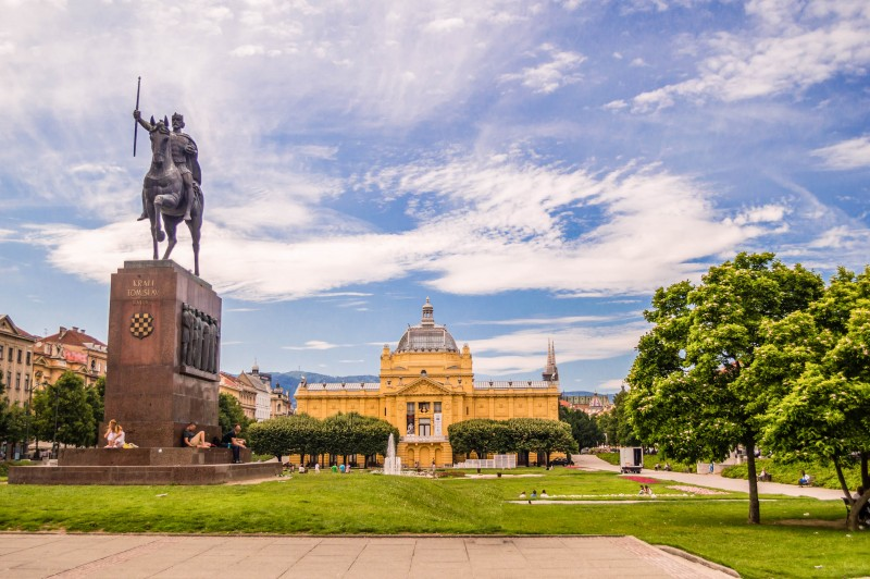 King Tomislav square in Zagreb, Croatia - Global Storybook