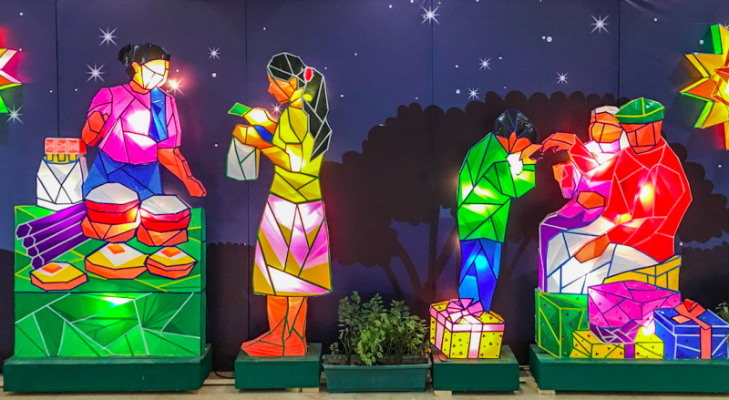 Life size Christmas lanterns depicting typical Filipino customs and traditions - Global Storybook