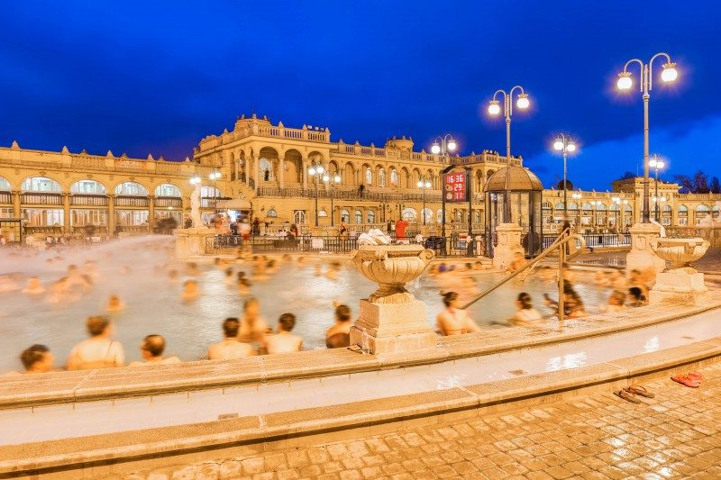 Szechenyi Baths, New Year's Eve, Budapest, Hungary - Global Storybook