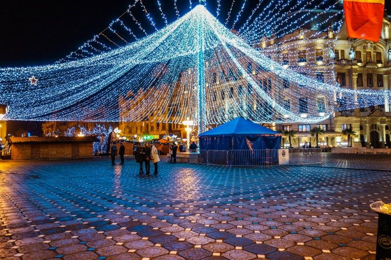 Timisoara Christmas lights, Banat, Romania - Global Storybook