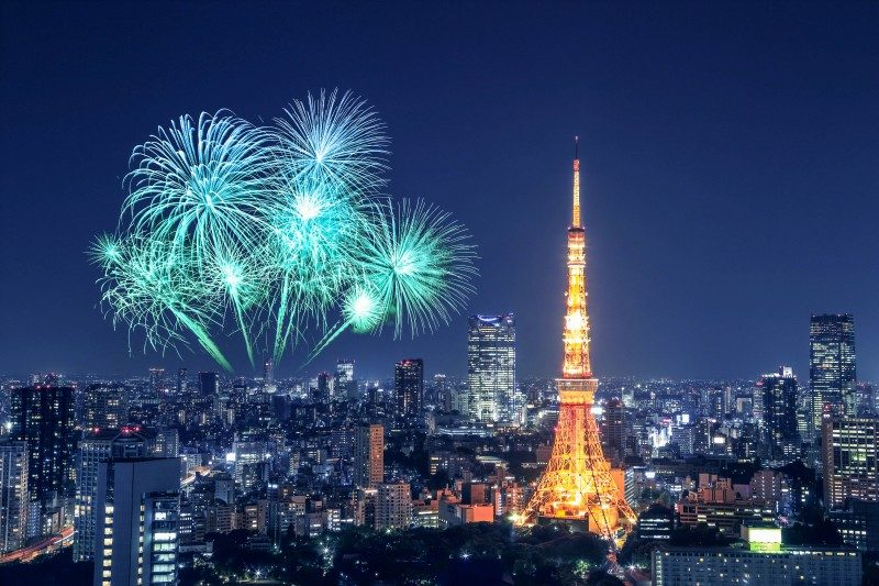 Tokyo Tower, Japan, New Year's Eve - Global Storybook