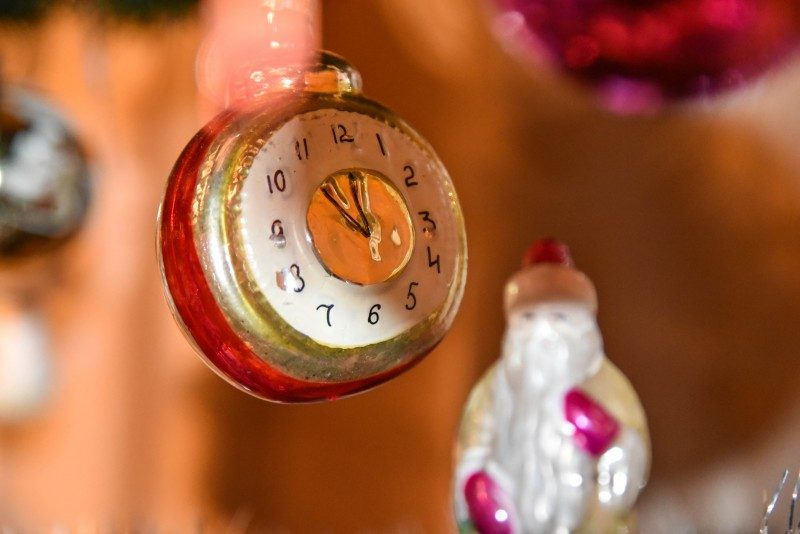 Toy vintage clock - new year tree decoration USSR - Global Storybook